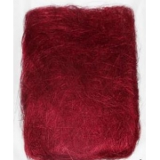 Сизалевое волокно (20 гр.), бордовый