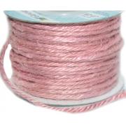 Шпагат джутовый (бечевка) JT-25 2 мм розовый 066 (2 м)