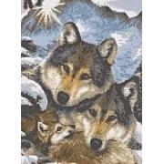 """Набор для вышивания бисером """"Семья волков"""""""