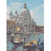 """Ткань с рисунком для вышивания бисером """"Венеция"""" 27х37см"""