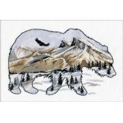 """Набор  для вышивания крестом """"Мир животных. Медведь"""" 25х17 см"""