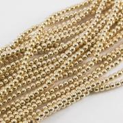 Бусины гематит имитация 6мм золотистое покрытие  (нить ок. 100 шт.)