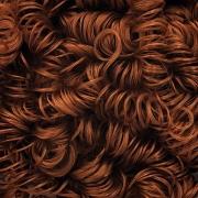 Волосы для игрушек кудрявые (70 г) каштановые
