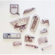 Набор силиконовых штампов для скрапбукинга №12