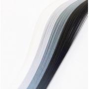 "Полоски для квиллинга ""Серый микс"" 04-05-100 (5 мм 100 шт.)"