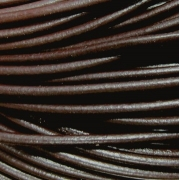 Шнур кожаный 2 мм (1метр) темно-коричневый