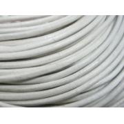 Шнур кожаный 2 мм (1метр) белый