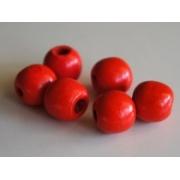 Бусины дерево HBO-04 15 мм (10 шт.) 08 красные