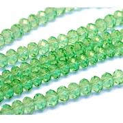 Чешское стекло 8 мм Зеленые прозрачные (5 шт.)