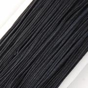 Сутаж 2.5 мм черный (5 м)