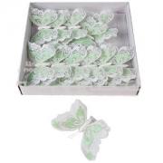 Бабочки на прищепке 12см белые ажурные (1шт.)