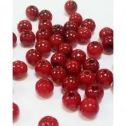 Бусины пластик PB-1 6мм (50шт.) темно-красные