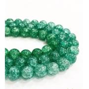 Битый (сахарный) кварц зеленый 8мм (4шт.)