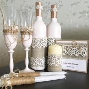 Семейный очаг из 3 свечей в стиле рустик