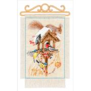 "Набор для вышивания Riolis ""Дача.Зима"" 1751 20х30см"