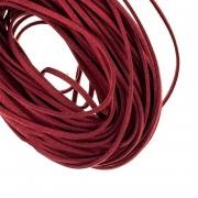 Шнур замшевый 3мм (1метр) бордовый