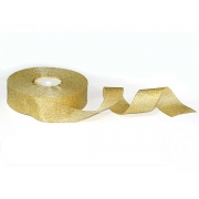Лента металлизированная парчовая MR-30 30мм (2 метра) золото