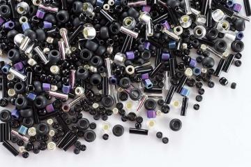 Бисер TOHO MIX 25грамм 3225 черно-серебристый
